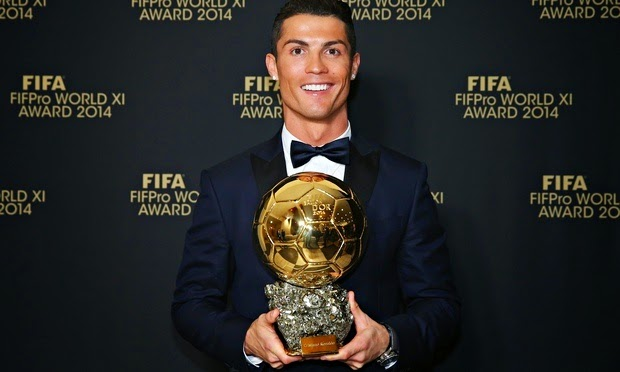 Cristiano Ronaldo Raih Anugerah FIFA Ballon D'Or 2014