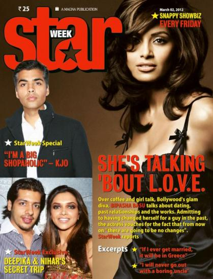 Bipasha Basu1 - Bipasha Basu on Star Week Coverpage March 2012