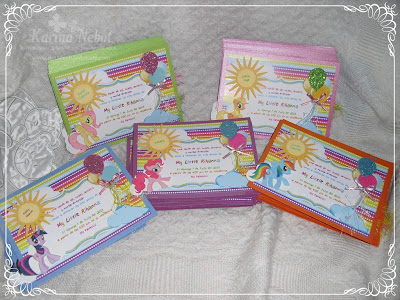Paper creations by karina my little pony handmade invitations for Handmade paper creations