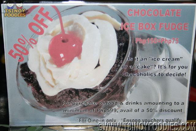 chocolate ice fudge promo