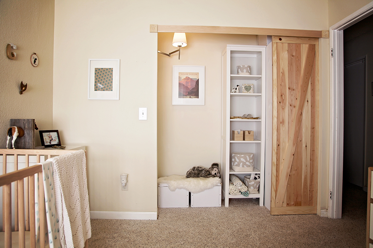 California Peach Diy Reading Nook Amp Mini Closet With Barn Door
