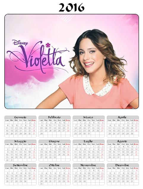 Violetta - Calendario 2016