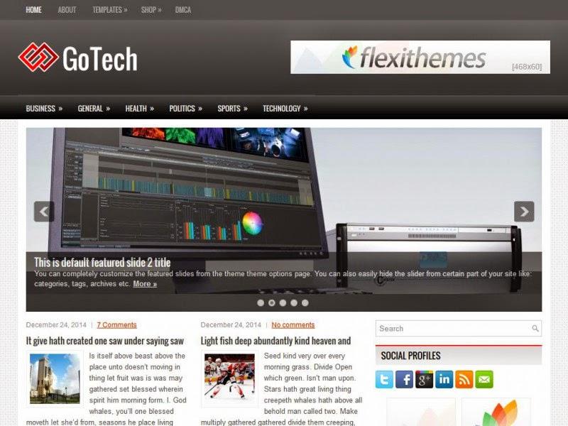 GoTech - Free Wordpress Theme