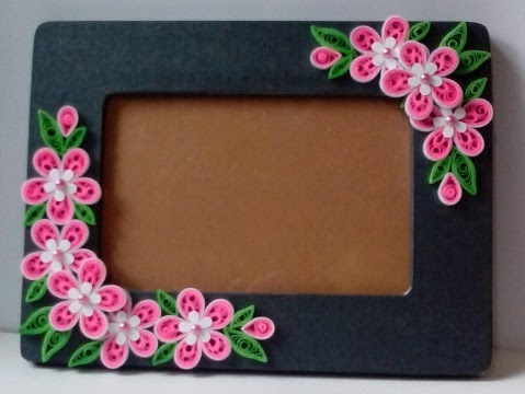 Let\'s create: Pink, Red and Black Quilling Frame
