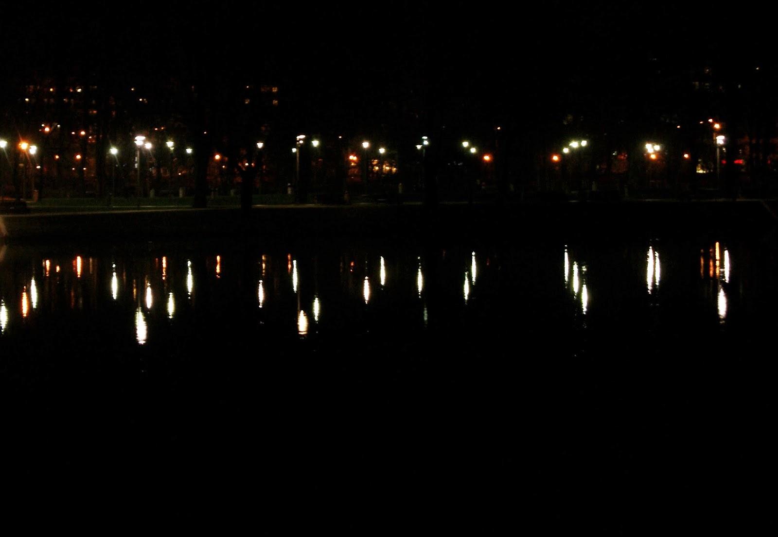 Wyspa Słodowa Wrocław nocą