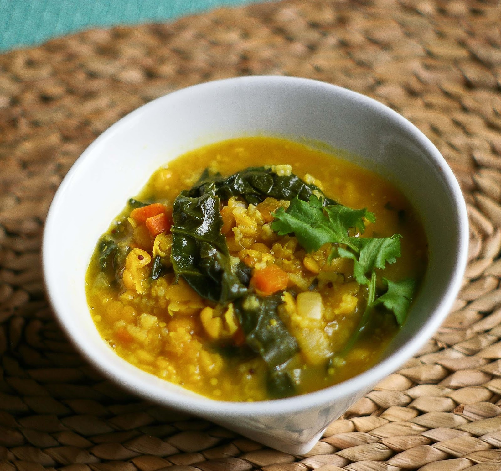 ... Must Be Soup! March 3 Indian Style Yellow Split Pea Soup with Spinach