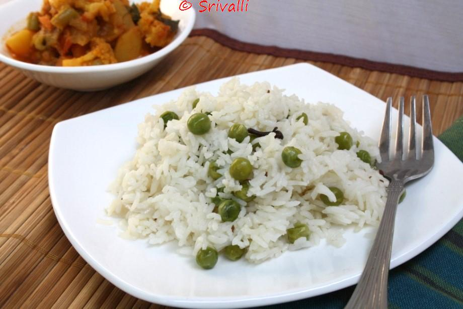 How to make Peas Pulao in Microwave | Step by Step Recipe