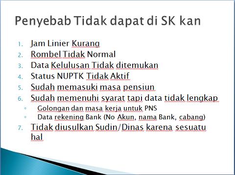 Dapodik dan Penerbitan SK Tunjangan