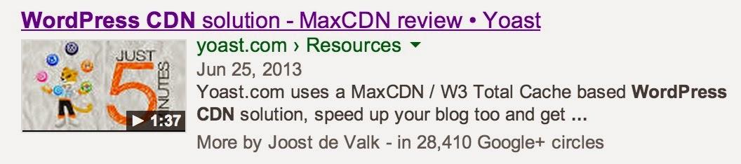 Imagem de exemplo com resultado de busca com chamada de vídeo, proporcionado pelo plugin de SEO para Wordpress