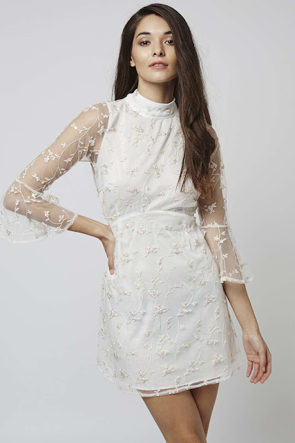 motel white embroidered dress, white embroidered sheer dress,