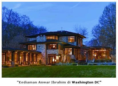 Rumah elit Anwar di Washington DC