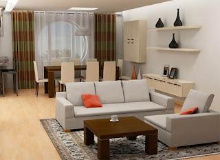 Salas com decoração simples