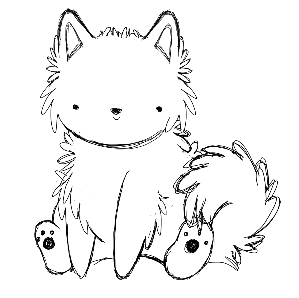 American eskimo coloring pages