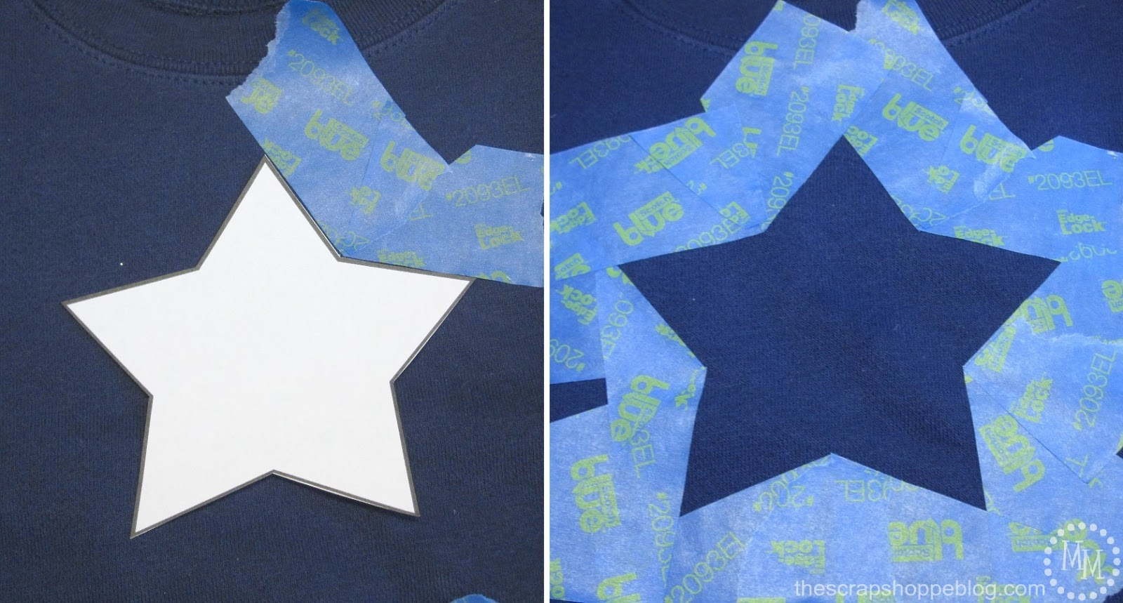 I Printed A Star To Use As Template Then Taped Around It Make Stencil