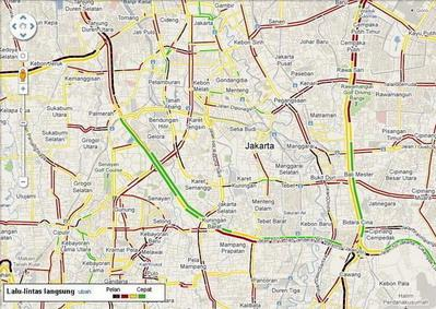 From google jakarta traffic information is available on google maps from google publicscrutiny Image collections
