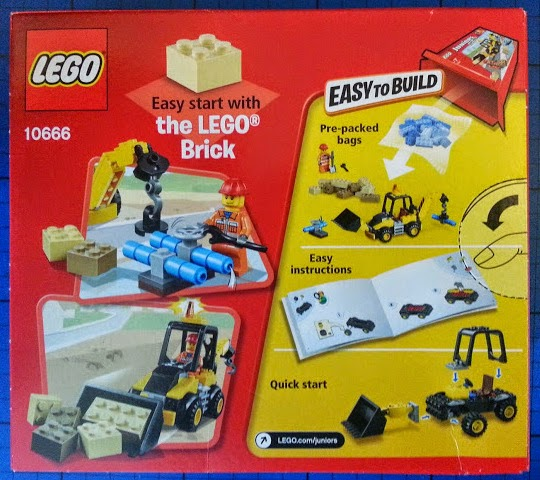 LEGO Juniors Digger set 10666 review pack rear