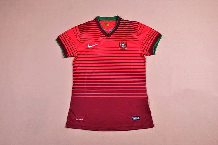 Jual Jersey Ladies (Cewek) Portugal Home 2014 Piala Dunia