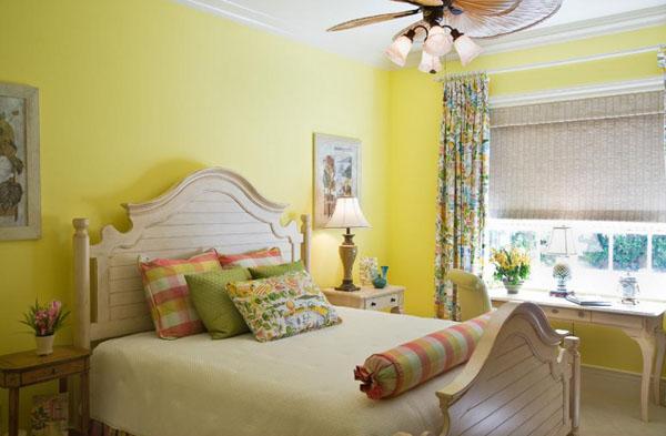 Sơn nhà màu vàng phù hợp với mọi loại thời tiết
