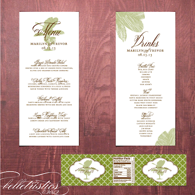 palm tree destination beach pdf template water bottle label menus reception