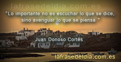 Frases sábias de Juan Donoso Cortés