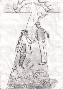 Desenho sobre o Holocausto