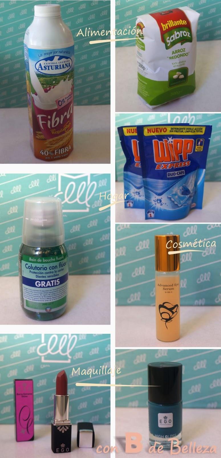Caja hogar, comida, maquillaje y cosméticos