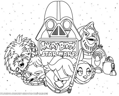 Angry Birds Star Wars para Colorear, Pintar e Imprimir : Best Free ...