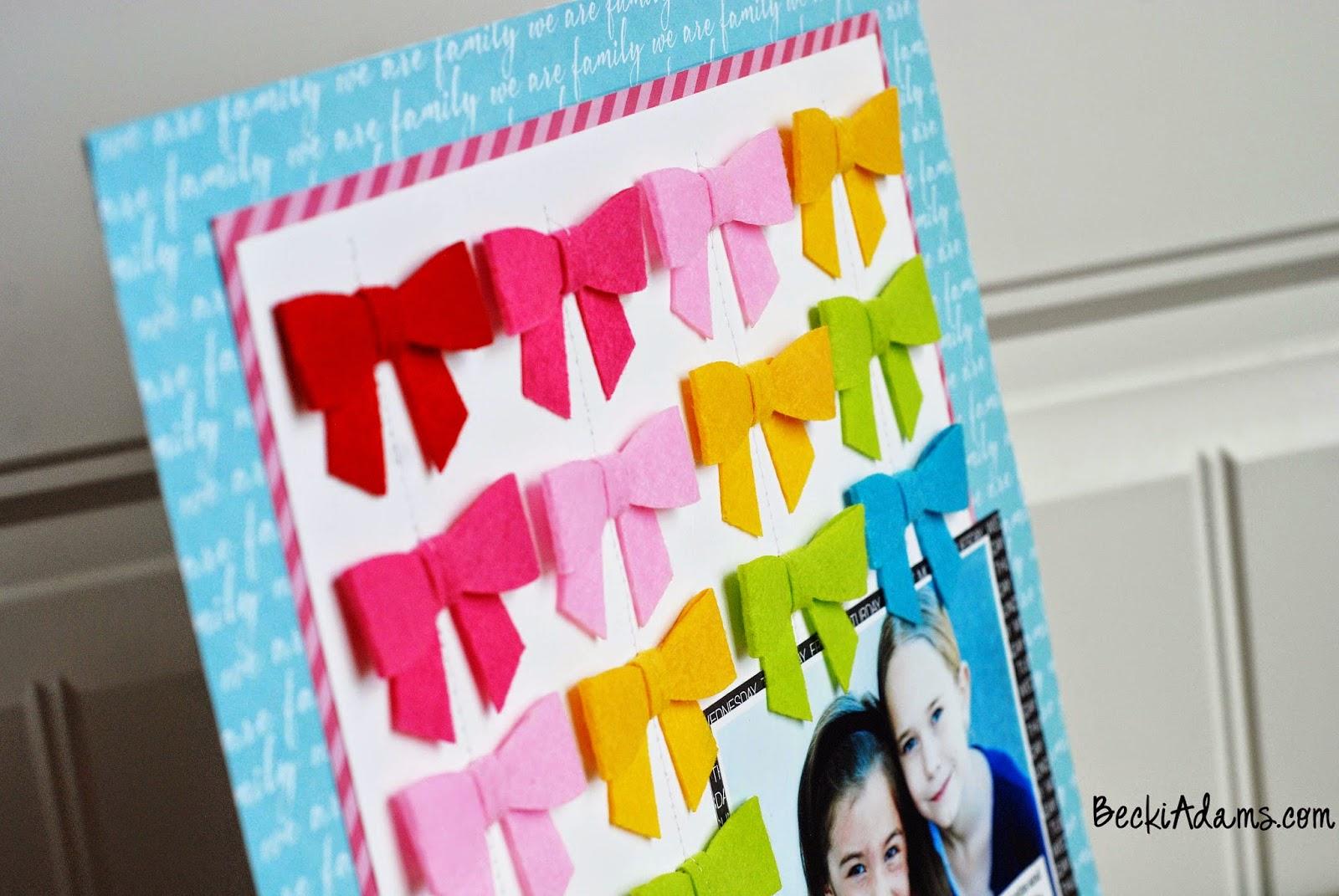 A layout featuring Bella Blvd's Bella Bows by @jbckadams #scrapbook #papercrafting # scrapbooking