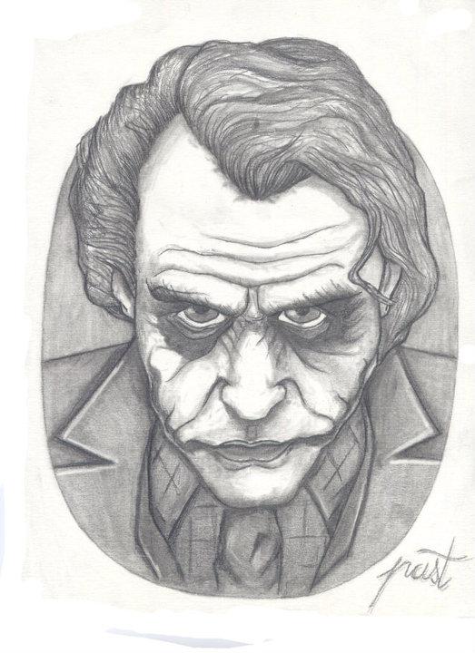 Joker en dibujos a lápiz - Imagui
