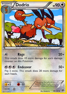 Dodrio Pokemon X and Y Card