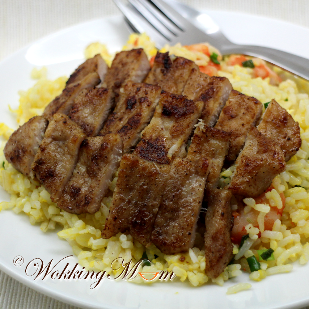 ... was trying to do a replica of Din Tai Fung's Pork Chop (Fried Rice