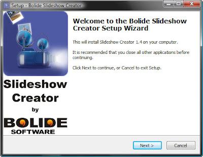 установка бесплатного видеоредактора Slideshow Creator