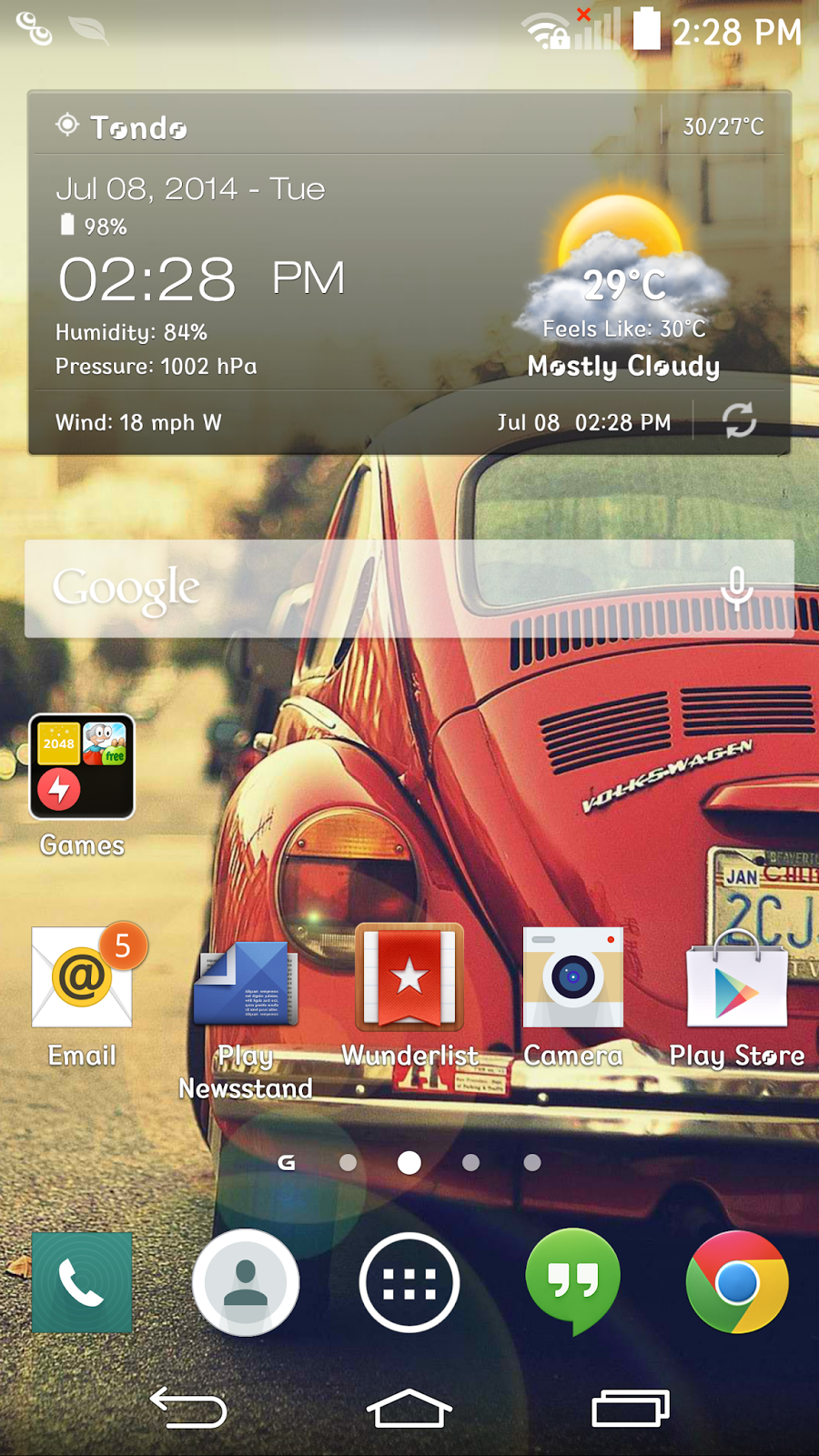 LG G3 simplified user interface