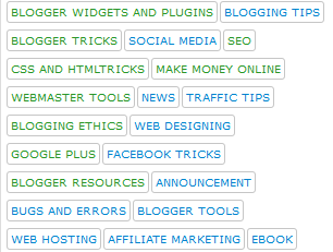 5 styles to customize your label widget in Blogger