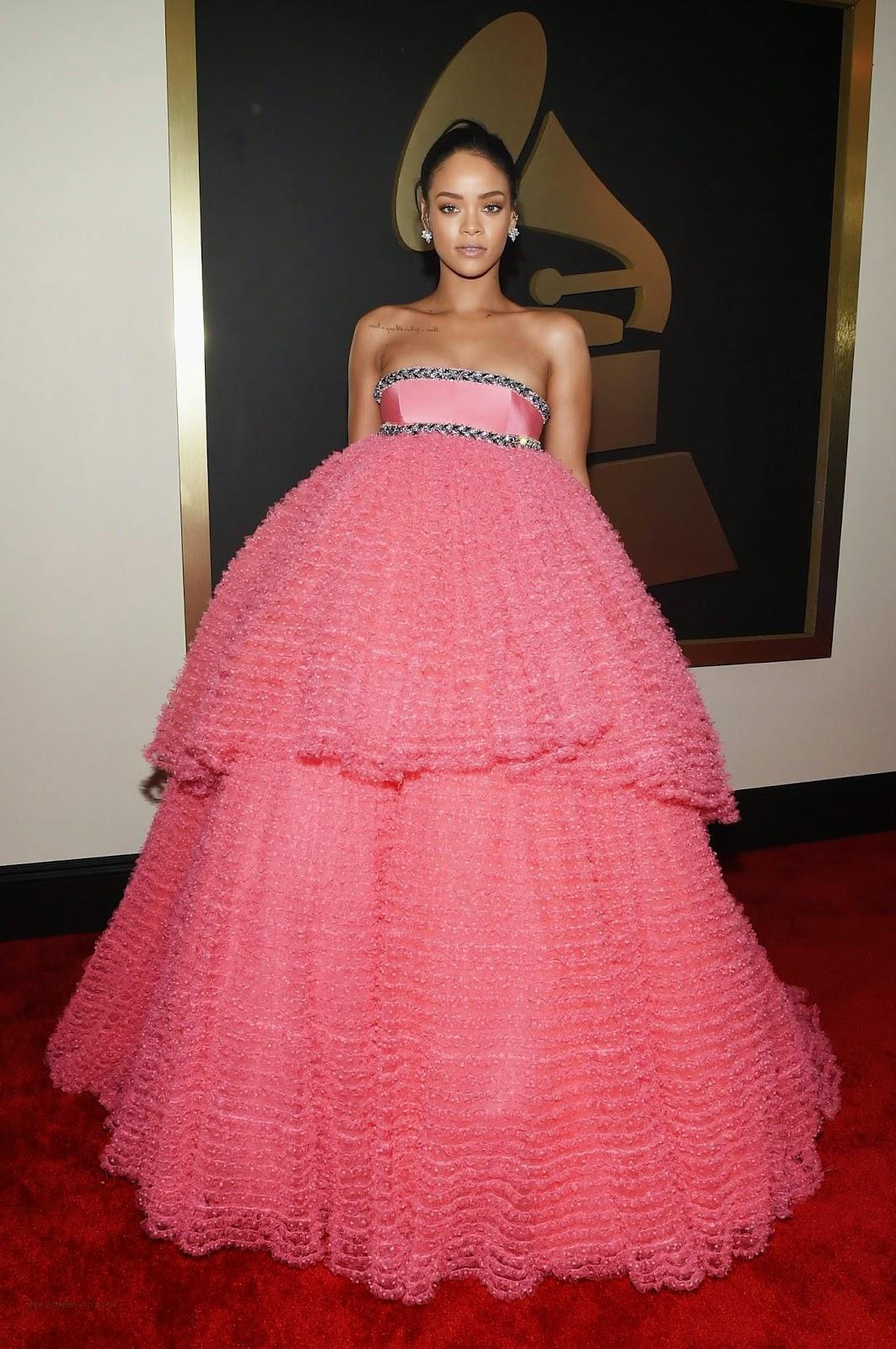 Singer, Actress, Fashion Designer: Rihanna - The 57th Annual GRAMMY Awards in LA