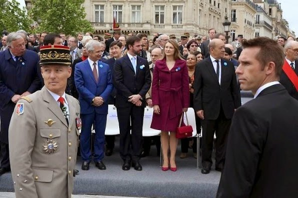 Princess Stephanie And Prince Guillaume At A Memorial Service In Paris