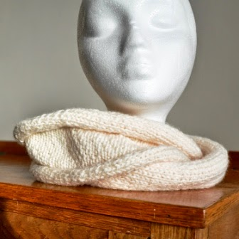 Stocking Stitch  Roll Infinity Scarf