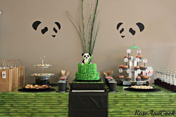 anniversaire thème panda