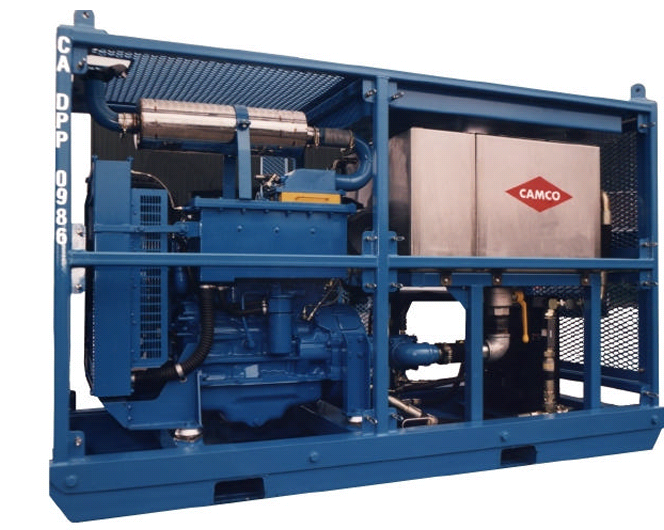 Slickline Power Pack is usually a hydraulically drive unit powered by a diesel engine. The engine provide power to drive hydraulic oil and by special hose, the hydraulic power will move the drum at winch.