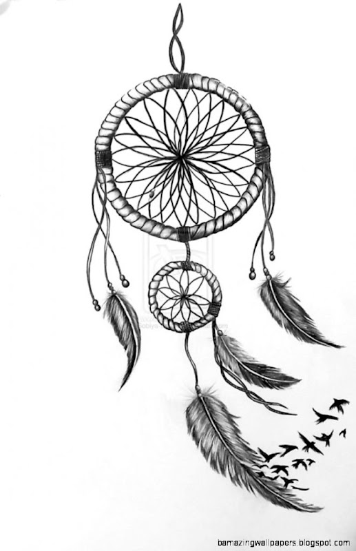Dream catcher drawings easy
