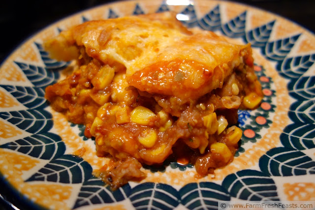 http://www.farmfreshfeasts.com/2013/03/zucchini-refried-bean-corn-enchiladas.html