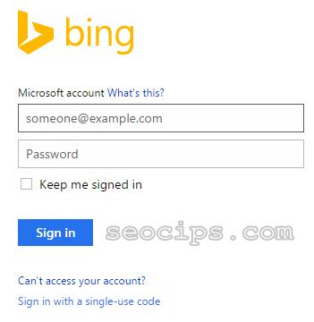 Langkah 3 daftar Blog ke Bing Yahoo