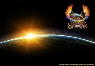 Desktop wallpapers Harley Davidson Fire Bird Logo at Space Eclipse desktop wallpaper