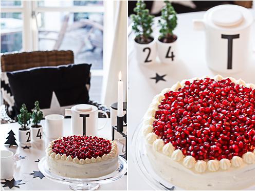Amalie loves Denmark Granatapfeltorte und Design Letters Geschirr