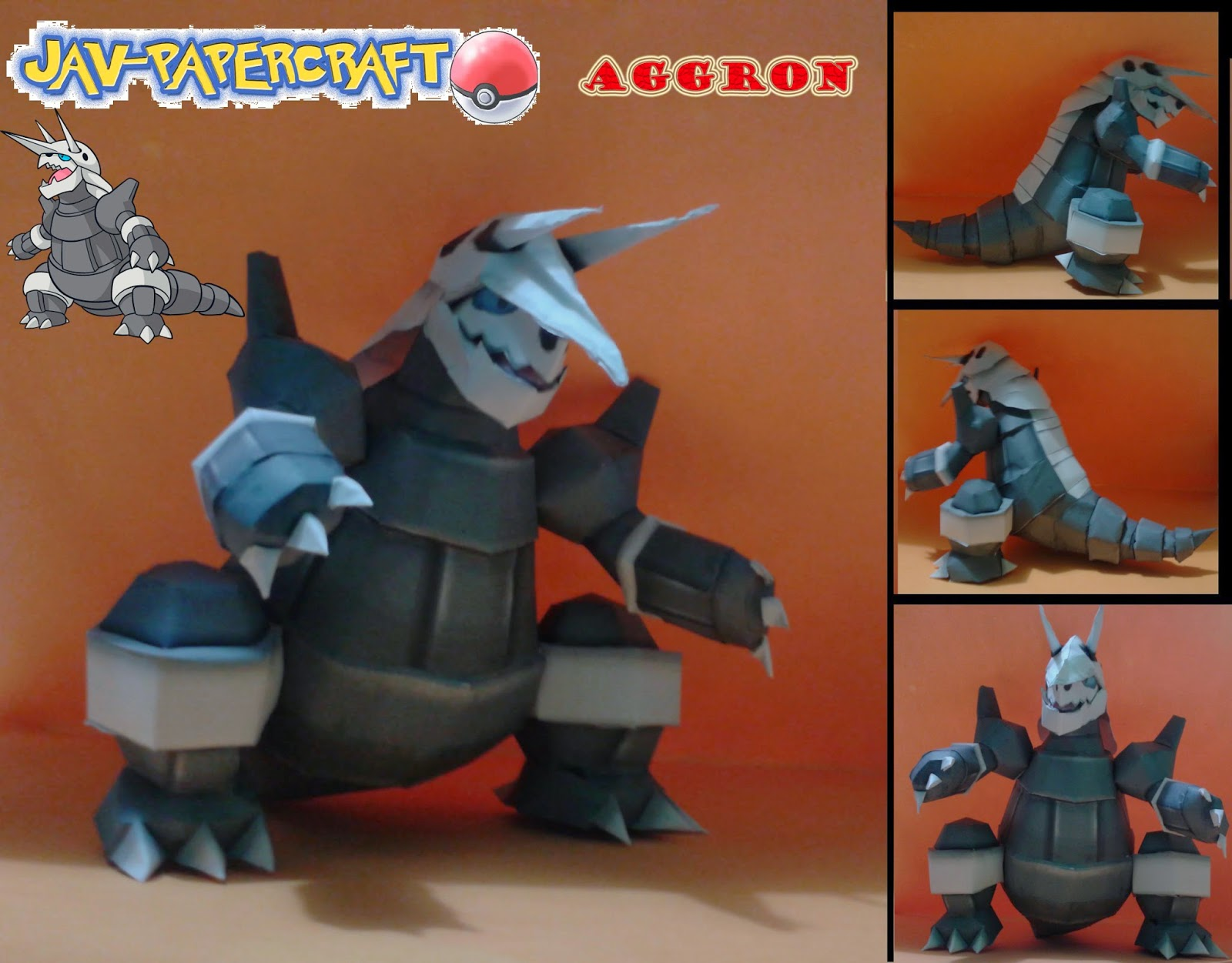 Aggron Paper Model