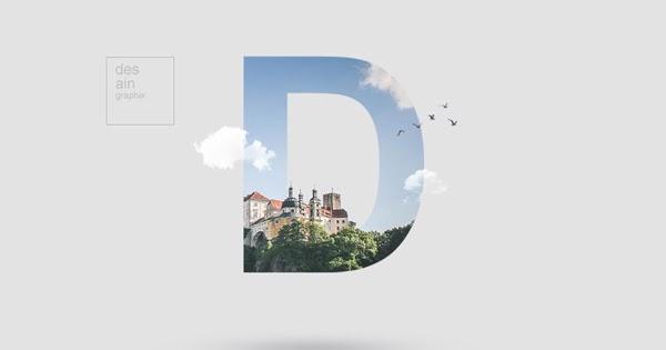 Cara membuat efek foto di dalam tulisan dengan Adobe