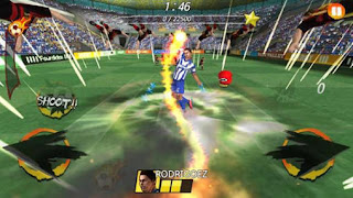 Screenshots of the Football king rush for Android tablet, phone.