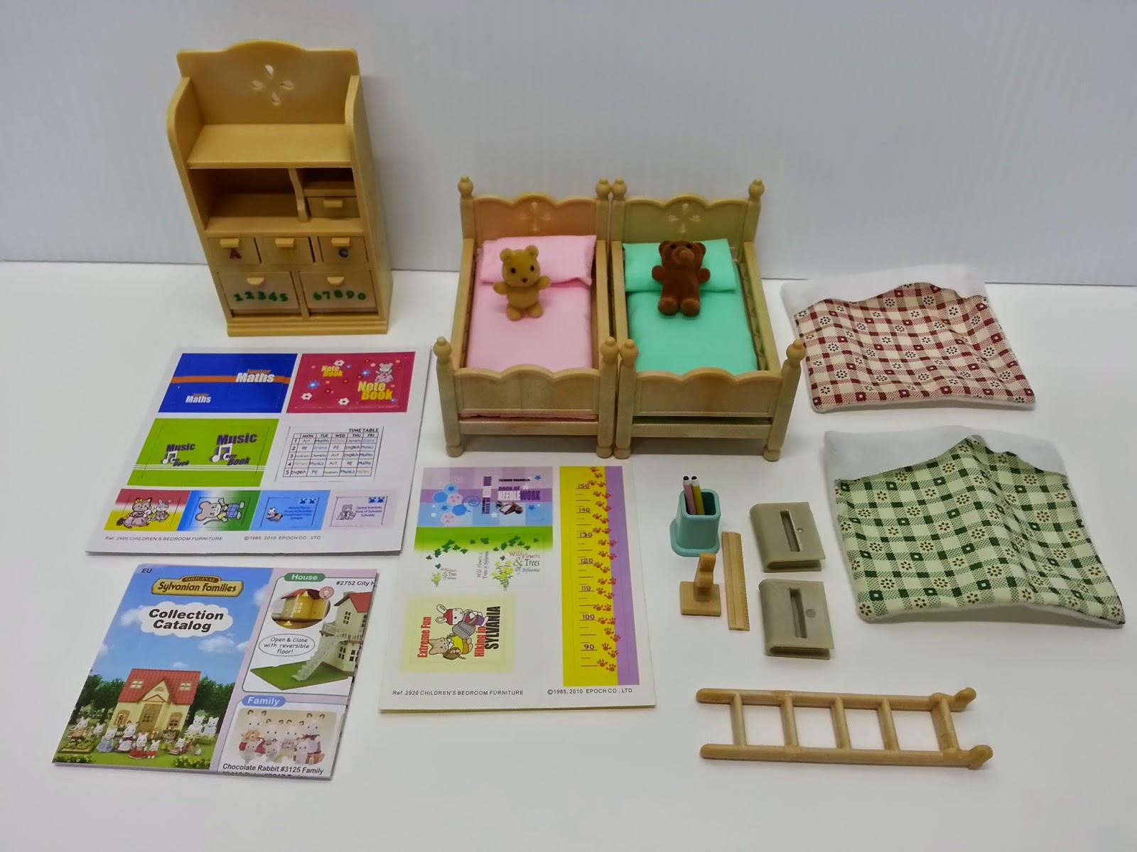 Sylvanian Families Bedroom Furniture Set Jane Chacrie Hannahs Miniatyrer