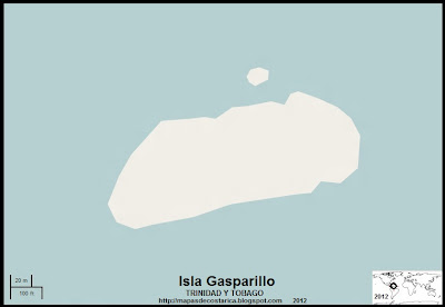 Mapa de la Isla Gasparillo, TRINIDAD Y TOBAGO,(OpenStreetMap) 