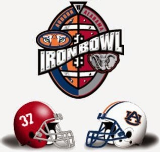 Alabama and Auburn football graphic